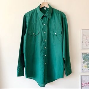 Vintage Western Style Button Up Shirt